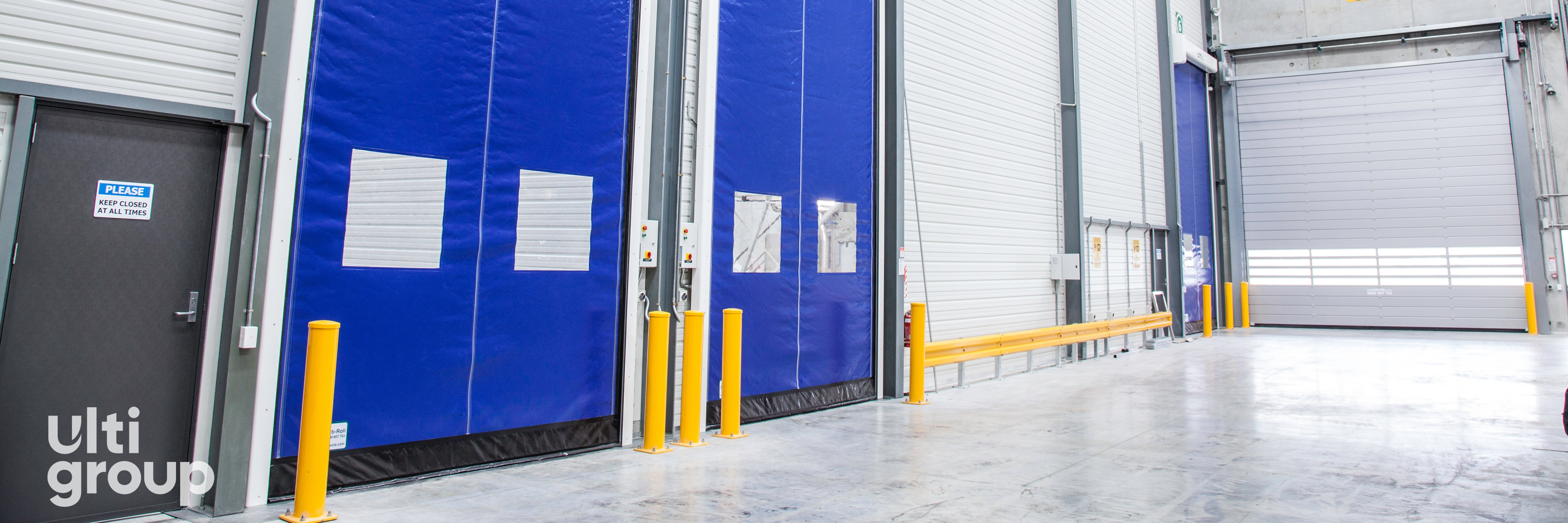 1311-Ulti Roll Rapid Acting Door with Vision Panels and Bollard Protection - Image Holdings (10)