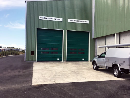 Our Ulti-Fold Rapid Doors are in the newly opened Ravensdown fertilizer plant in New Plymouth