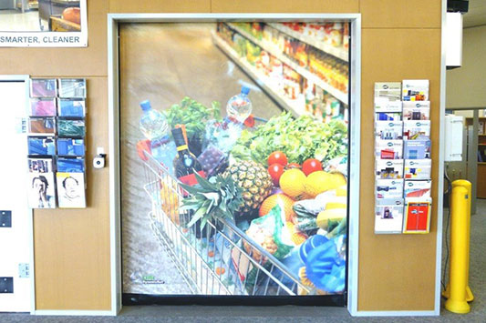 Customise your high-speed door with print