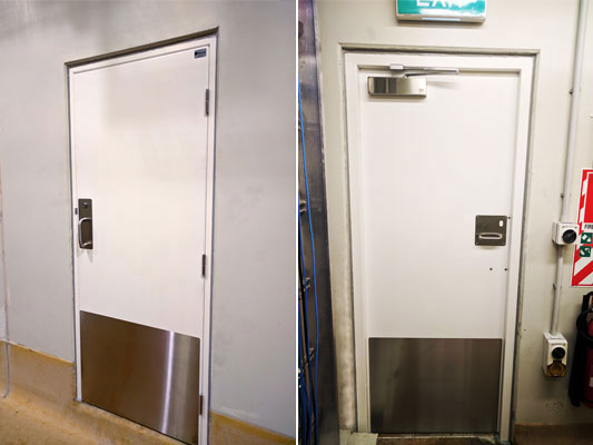 Meat Processing Plant meets Hygienic GRP Fire Door